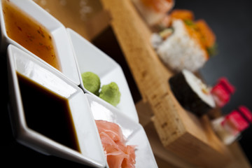 Collection of sushi