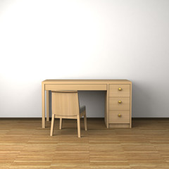 Room with a desk