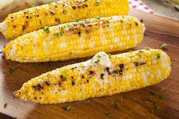 Organic Grilled Corn on the Cob