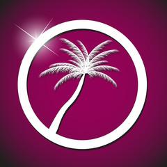 palm icon vector illustration