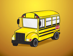 School bus in vector