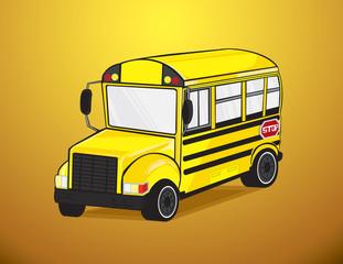 School bus in vector