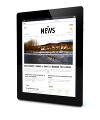 news on a tablet