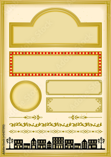 横丁 昭和モダン 大正レトロ 広告 イラストfotoliacom の ストック画像