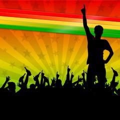 hintergrund regenbogenfarben reggae III