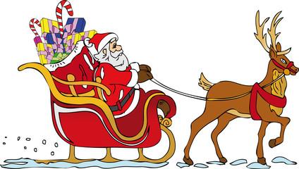 Babbo Natale slitta
