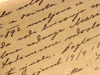 1892 vintage handwriting