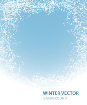 Background  with rime for winter holiday