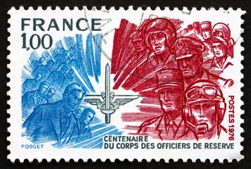 Postage stamp France 1976 Officers Reserve Corps