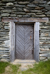 Old Wooden Door in Rural House