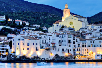 Cadaqués, Costa Brava, Spain:  in the evening