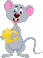 funny mouse cartoon holding cheese