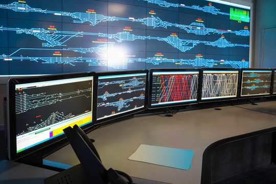 control room of railway