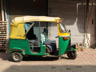 Printed kitchen splashbacks Delhi rickshaw taxi