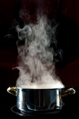 cooking pot with steam