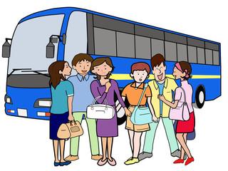 若者たちのバスツアー