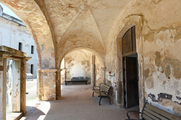 Hallway with Arches at Castillo San Cristobal