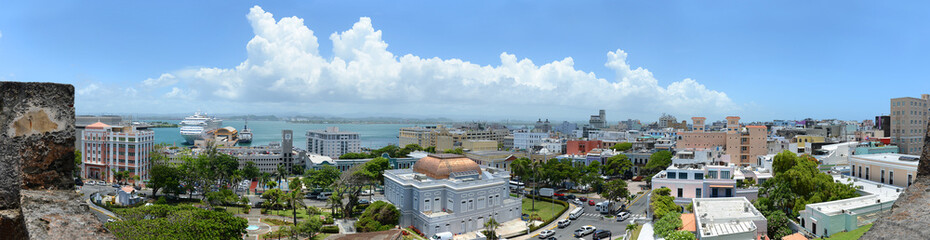 Panoramic View of San Juan Puerto Rico