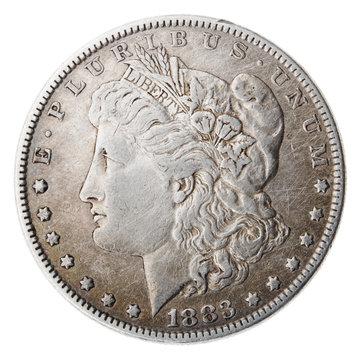 Morgan Dollar - Heads Frontal