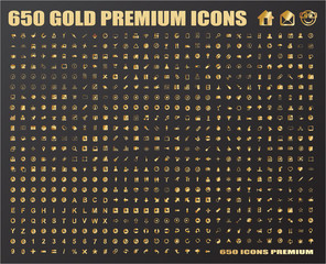 650 Gold Icons