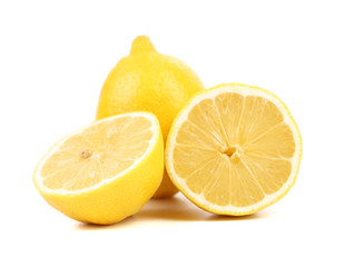 Ripe lemons. Isolated on a white background