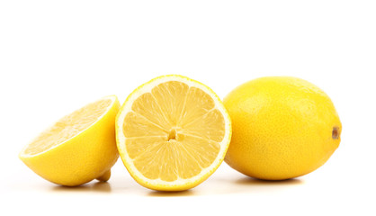 Ripe lemons. Isolated on a white background