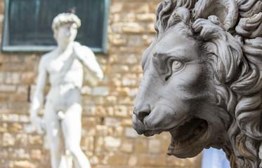 Firenze, leone  della Loggia o della Signoria