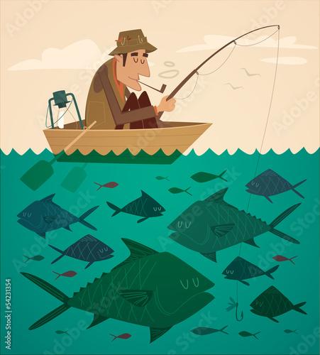 фото нарисованных рыбаков