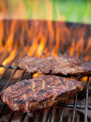 closeup of a steak
