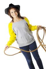 Modern Teen Cowgirl