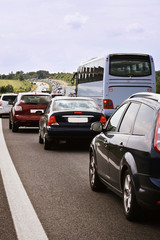 Verkehrsstau nach Vollsperrung