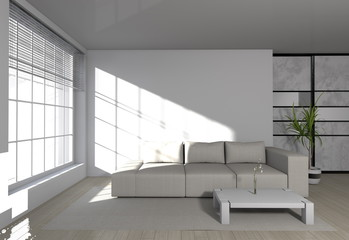 modern room interior - sofa in weiß