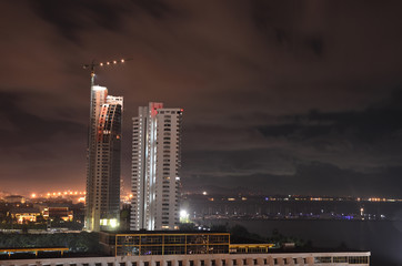Construction of skyscraper buildings