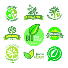 Bio - Organic - Natural icon set