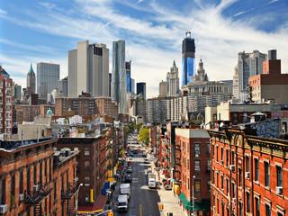 Stadsgezicht van Lower Manhattan