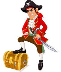 Fototapete - Cartoon pirate