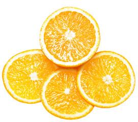 fresh orange isolated over white background