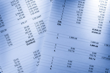 Operating budget numbers of financial calculation