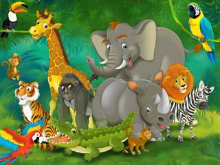 Cartoon safari - illustration for the children