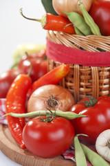 freshly picked organic vegetables