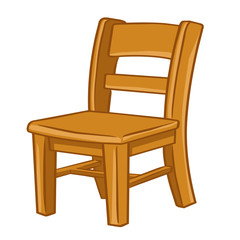 wood Chair isolated illustration