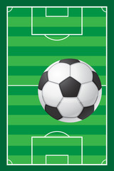 football soccer stadiun field and ball