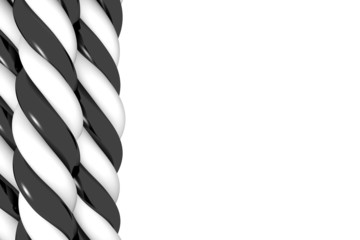 Seil, Strang, Gewebe in s/w - 3D