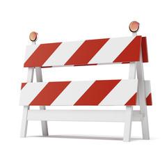 roadblock isolated on white background