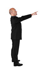 Businessman pointing - isolated over white