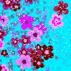 flower of happiness, floral background
