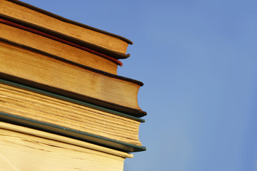 Books in front of Blue Sky