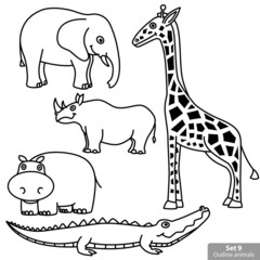 Outline Animals Set