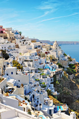 Village of Fira on the slopes of the caldera on the island of Sa