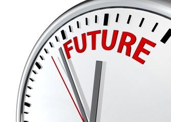 Time concept - Clock with the word Future
